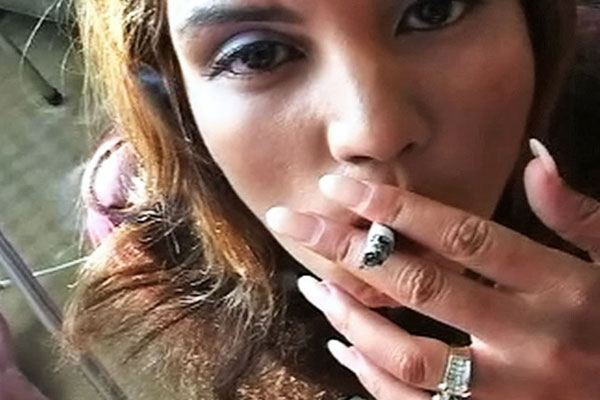 Vanessa inhales smoke and hot ejaculate 0. Just look at Vanessas head bobbing up and down a cruel dick as she pauses to smoke her cigarette