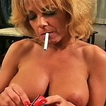 Lustful smoker on her knees 0   sammy performs smoking hot felatio on her lover.  Sammy performs smoking hot felatio on her lover