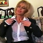 Red nailed smoker 0. Blonde sexpot Sammy glides her long red nails over her see through blouse as smoke covers her body