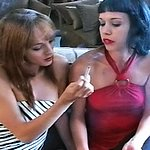 Exciting roommates share a cigarette 1   charlie and jacqueline strip down to barely there lingerie and enjoy the taste of their cigarettes.  Charlie and Jacqueline strip down to barely there lingerie and enjoy the taste of their cigarettes